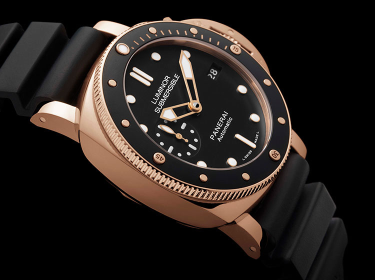 Officine Panerai Luminor Submersible 1950 3 Days Oro Rosso